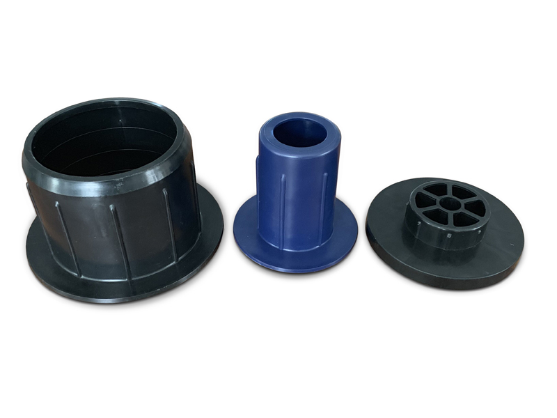 Packaging Plastic core tube end cap plug holder support brackets